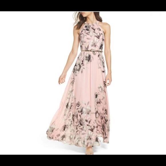 7ff415c30fd Eliza J Dresses   Skirts - Eliza J belted chiffon maxi dress